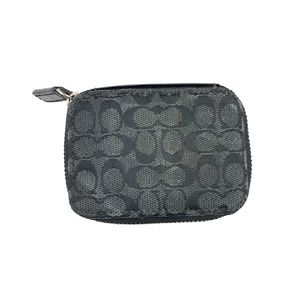 Coach Black Pill Carrying Zipper Case